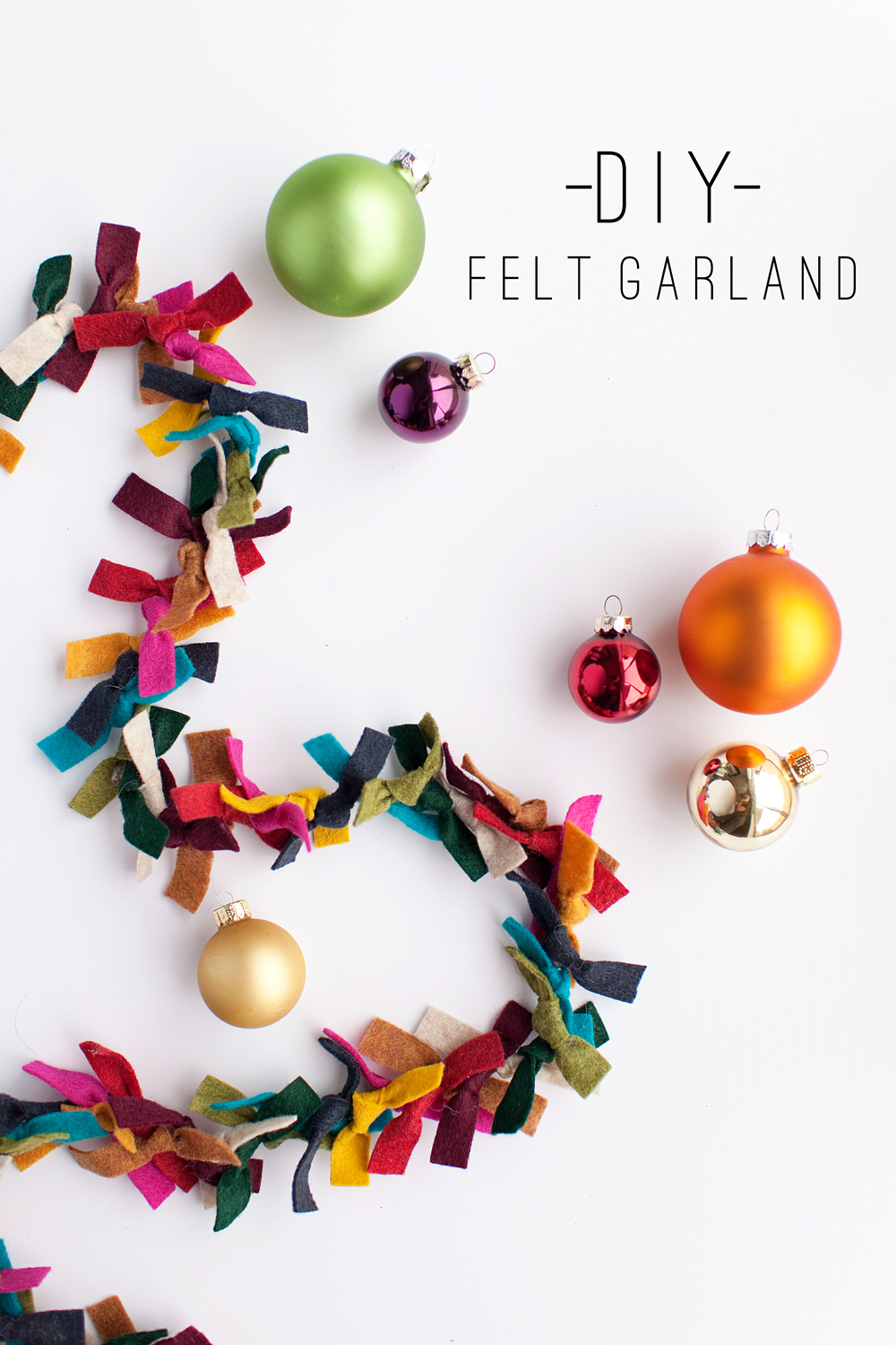 tell felt garland tell love and party