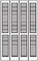Louver closet doors