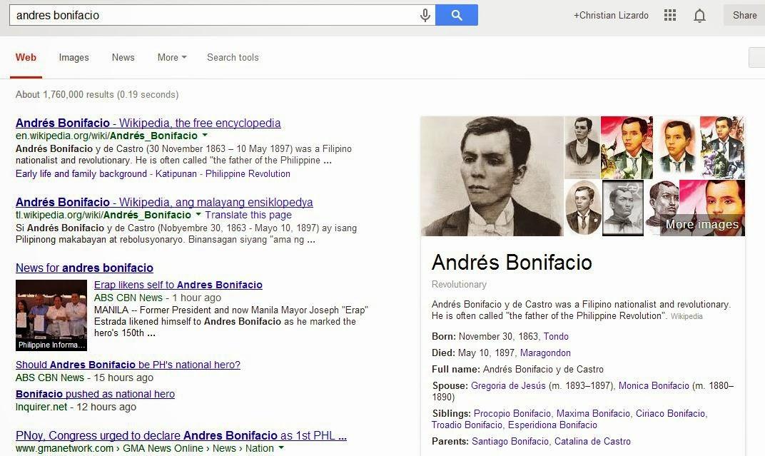 andres bonifacio educational background