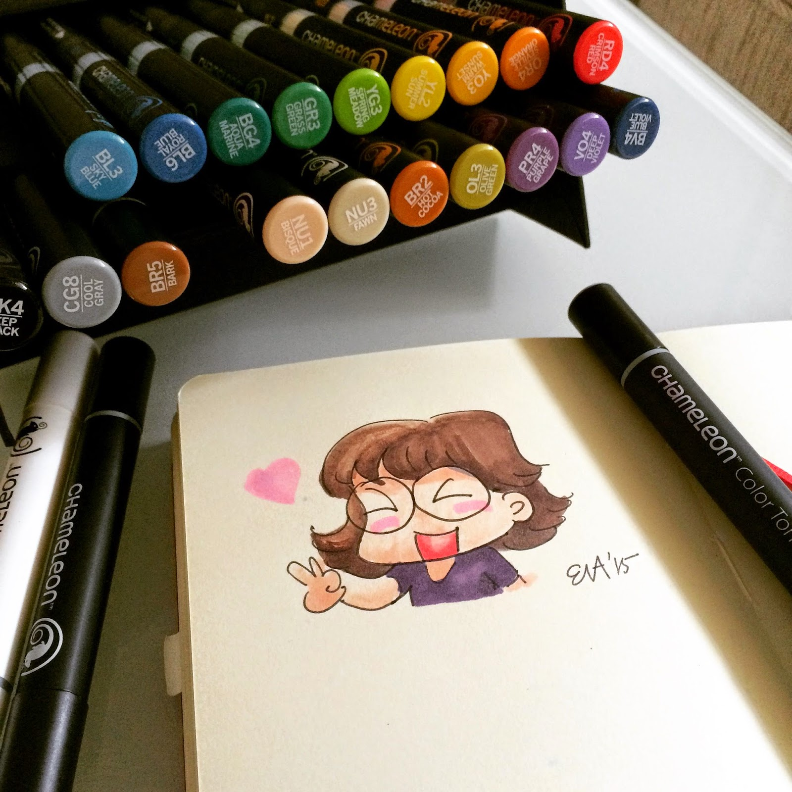First Impression, Demo and Review of Chameleon marker pens