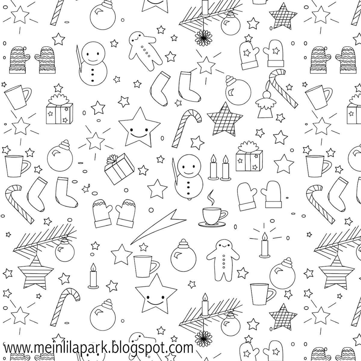 Free printable Christmas coloring page - ausdruckbares Malblatt ...