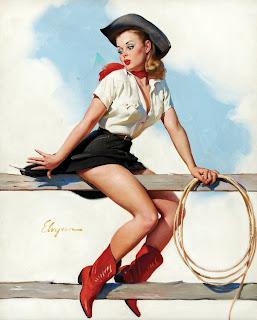 Pinup girl cowgirl