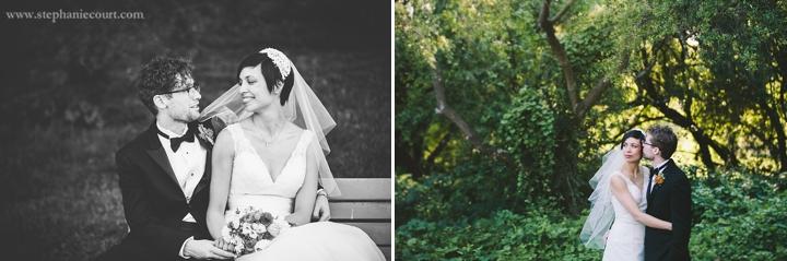 """sweet bride and groom in san francisco park"""