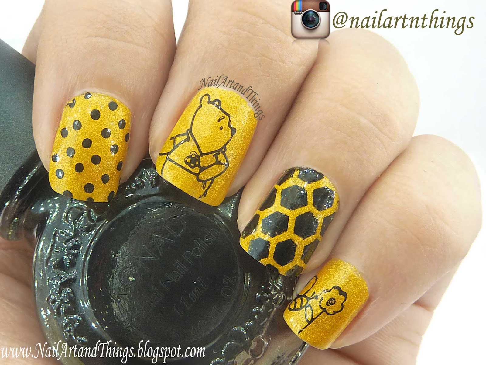 Nailart And Things Stay Quirky Nail Polish Review Winnie Pooh