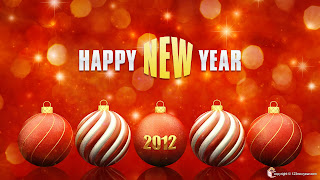 Free Download Happy New Year 2012 Balls Wallpaper