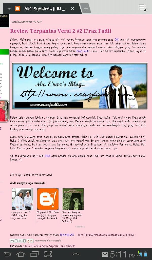 Review Blog Oleh Blogger Aimi Syahirah