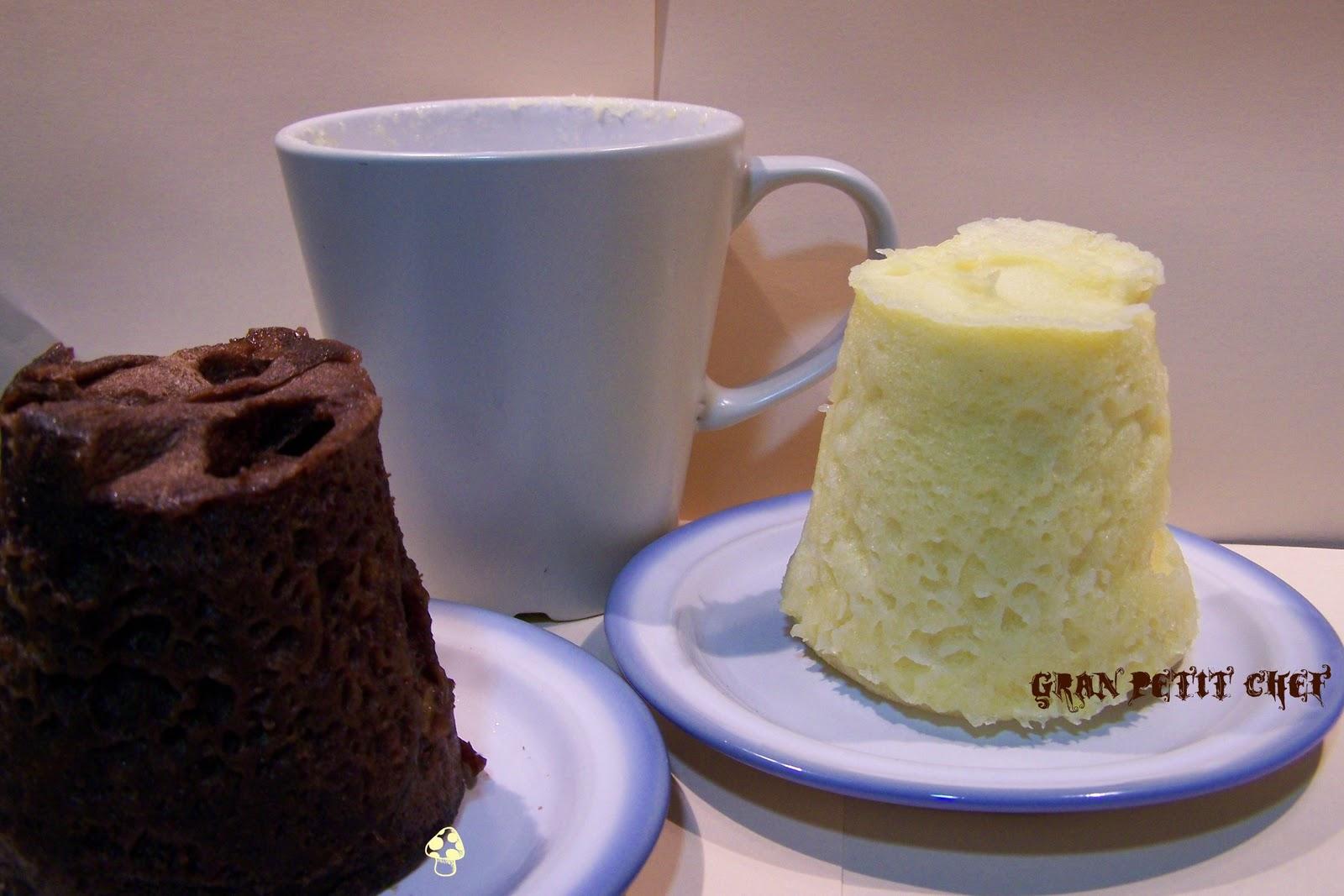 Cocina f cil sin gluten bizcocho a la taza al microondas - Bizcocho con microondas ...