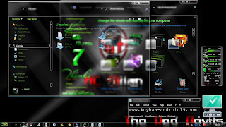 THEME WINDOWS 7 AC MILAN GLASS