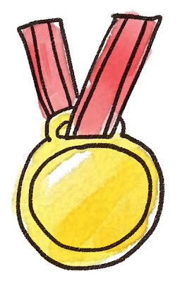 金メダルのイラスト(スポーツ)