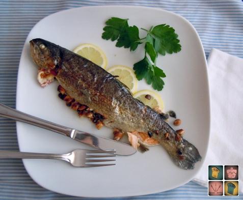 Mar a truchas rellenas for Alimentos balanceados para truchas