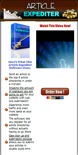 Article Expediter Order Page screenshot