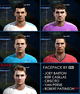 Facepack PES 2013 by Izzi