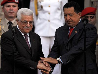 Palestina e Venezuela - Presidente Abbas e Presidente Hugo Chavez