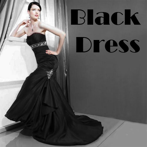Black dress for woman