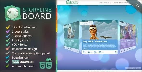 Storyline Board V2.5 – Themeforest WordPress Theme