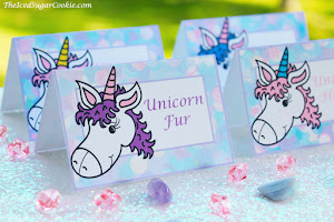 Unicorn Food Label Tent Cards