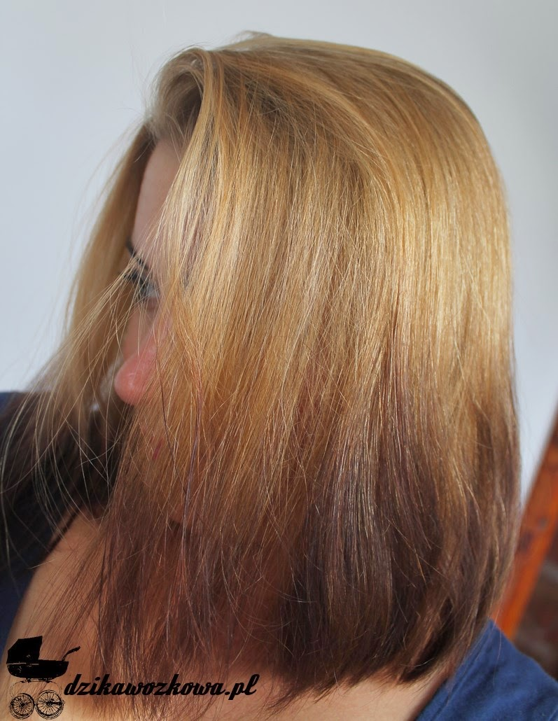 włosy, naturalny blond czarny odrost