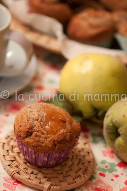 muffin di grano saraceno solo albumi con cuore di mele cotogne
