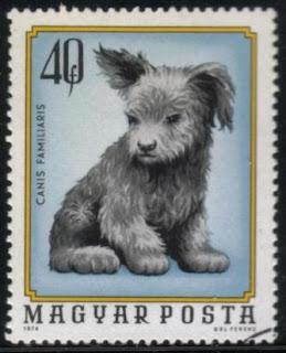 1974年ハンガリー共和国 子犬の切手