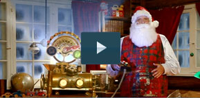 magic santa video message