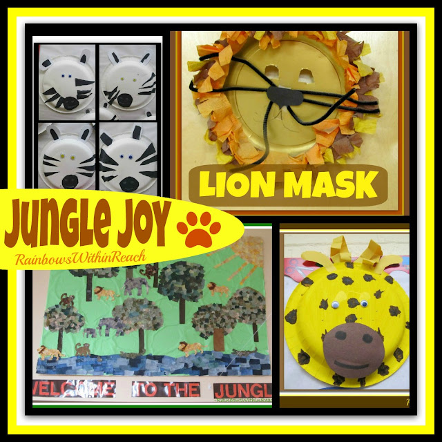 Jungle Animal Art Projects for Young Children (RoundUP via RainbowsWithinReach)
