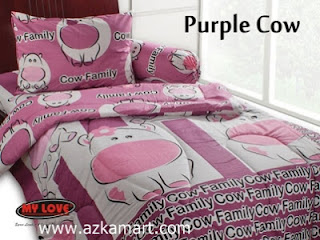 Sprei My Love Purple Cow