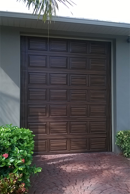 Paint a rv garage door to look like wood everything i for Rv garage door dimensions
