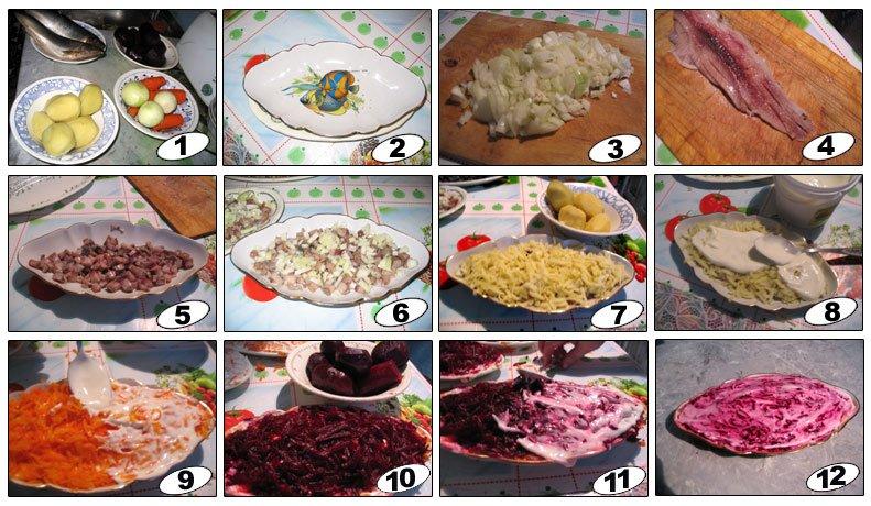 рецепт салата селедка под шубой классический с фото