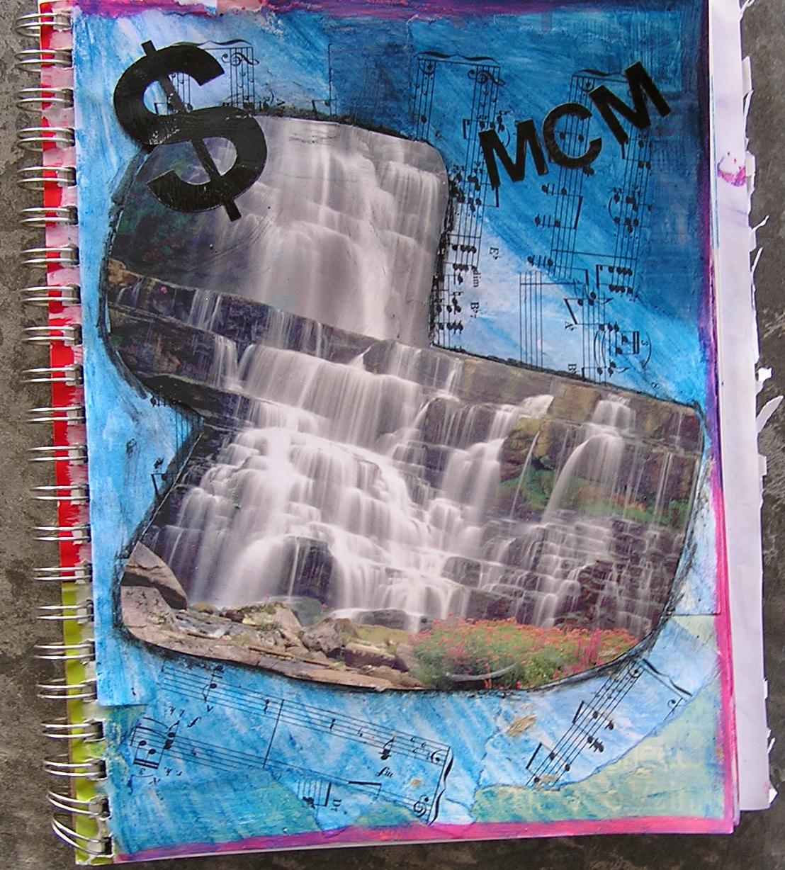 Sketchbook Cover Collage : P c k art room sketchbook collage covers