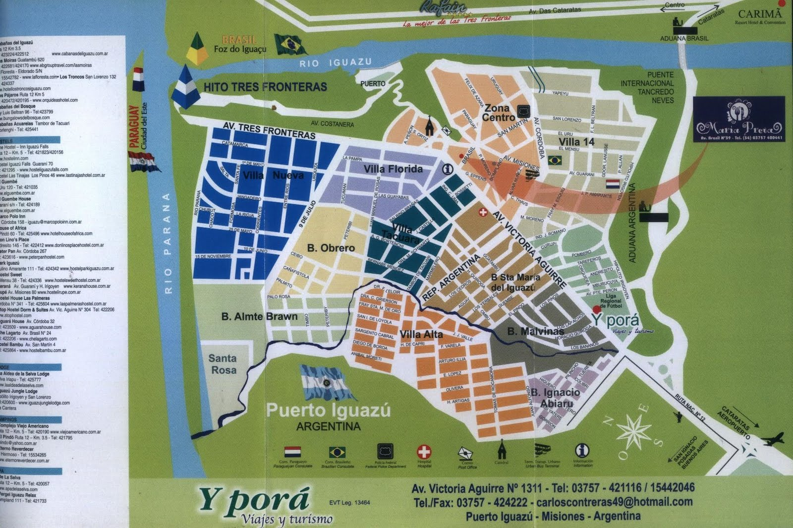 Puerto Iguazu Argentina  City pictures : Mapas de Puerto Iguazu Argentina MapasBlog