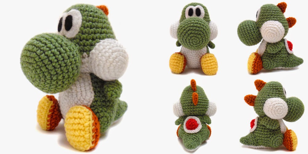 Crochet Yoshi : crochet things: Pattern: Yoshi Amigurumi