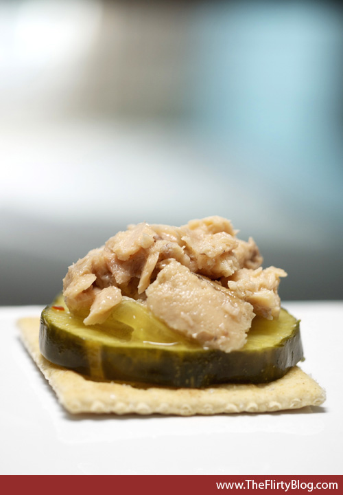 Cracker, Bread and Butter Pickle, Salmon