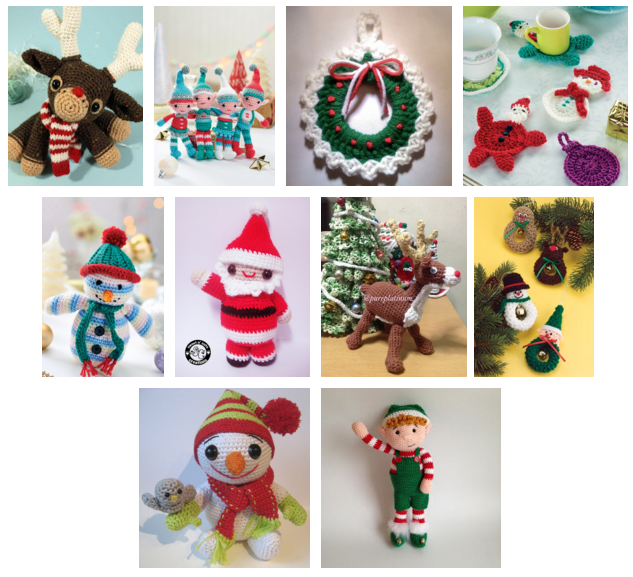 Free Online Christmas Crochet Patterns : Heart & Sew: Free Pattern Friday - November (10 Free ...