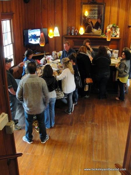 subterranean tasting room at BellaGrace winery in Sutter Creek, California