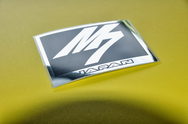M7 in Black and Chrome decal sticker