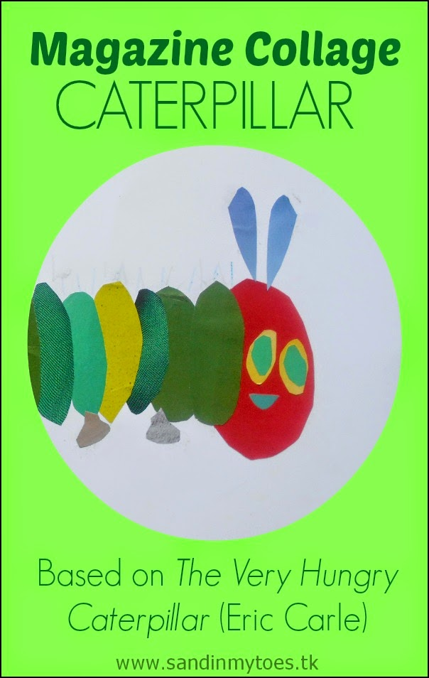 Magazine Collage Caterpillar based on The Very Hungry Caterpillar