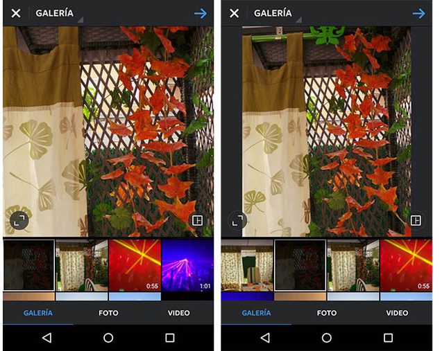 Instagram allows you to post pictures and panoramic videos; How it works?