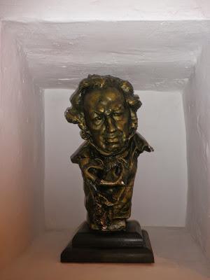 Busto de Francisco de Goya. Goyas