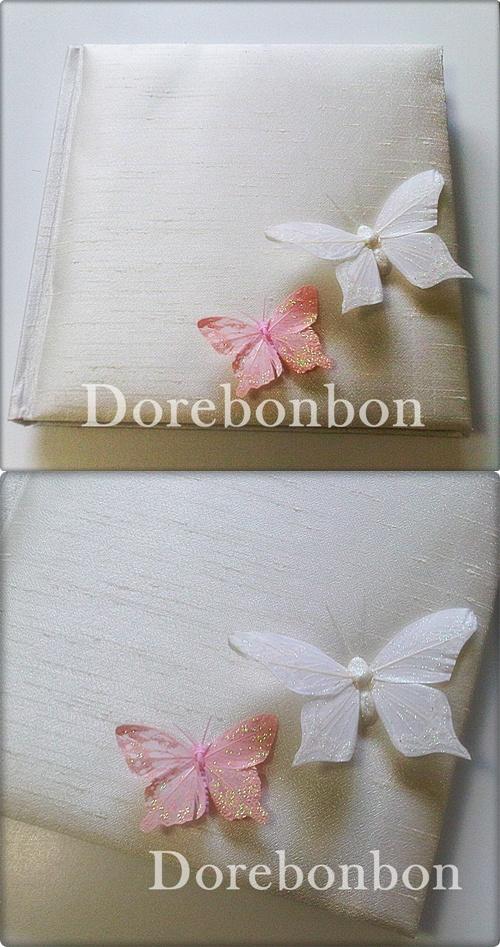 Kelebek Temalı Düğün Anı Defteri