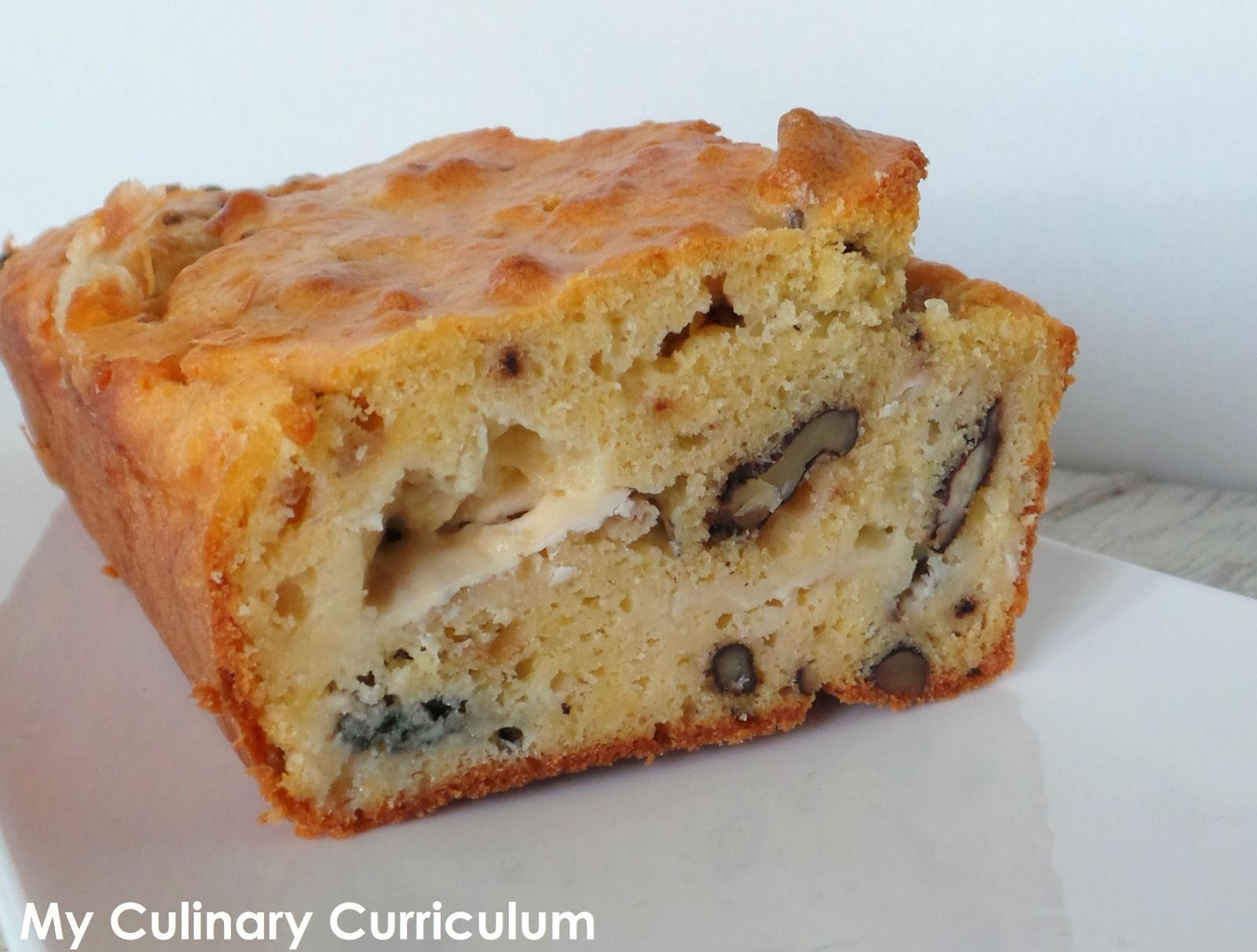 my culinary curriculum cake roquefort noix roquefort blue cheese and walnuts cake. Black Bedroom Furniture Sets. Home Design Ideas