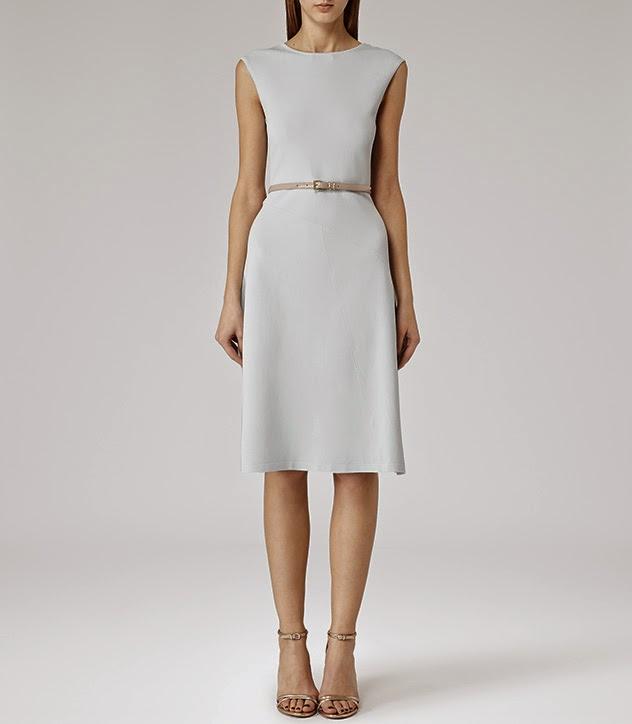 reiss light blue midi dress,