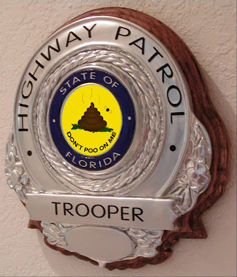 Dont Tread On Me Gadsden Flag Florida Highway Patrol badge