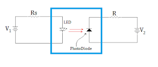 optocoupler circuit with led and photodiode