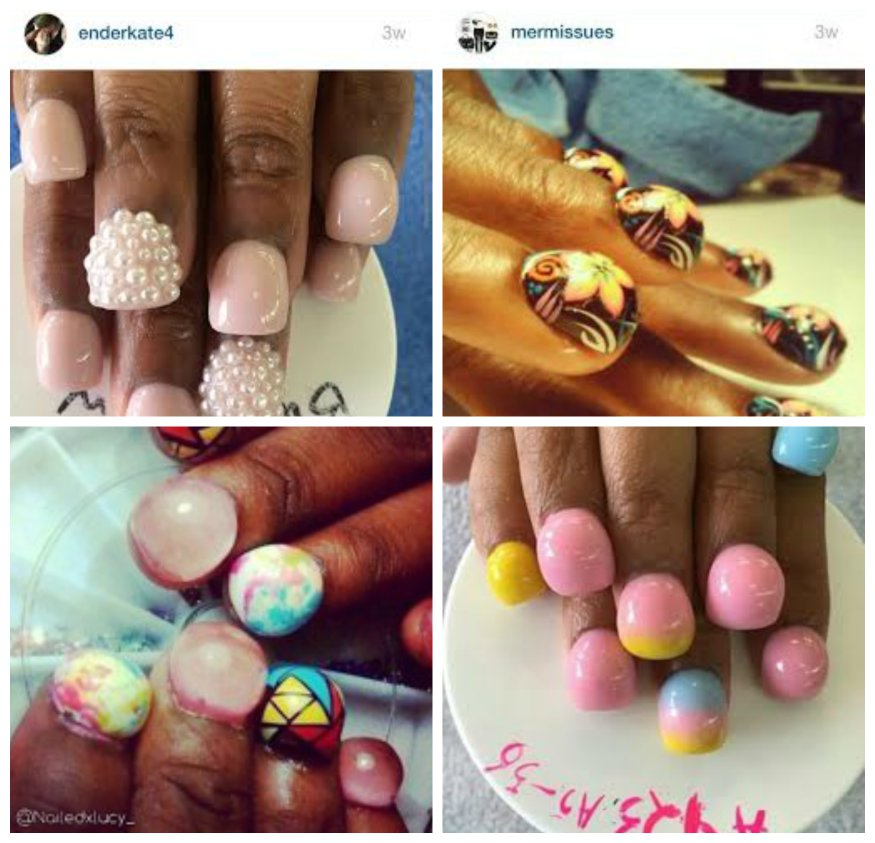 examples of bubble nails from instagram