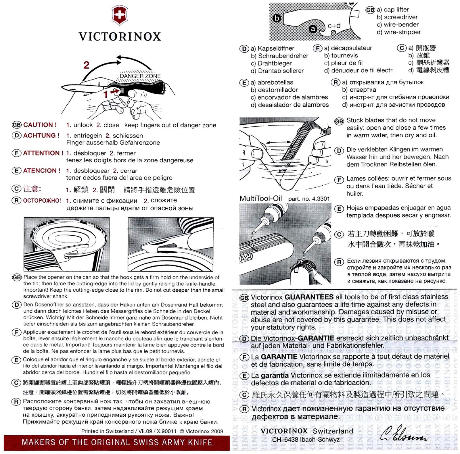 Victorinox инструкция к ножу армейский нож вов