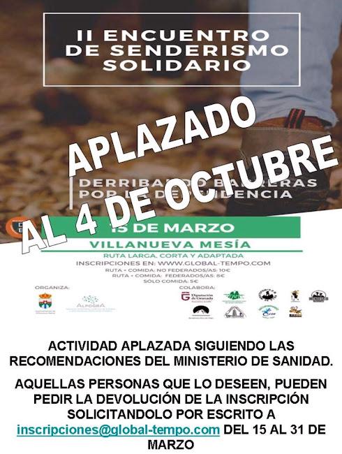 CONVOCATORIA: Ruta EXTRA XVIII Jornadas de Senderismo Maleno 2019/2020