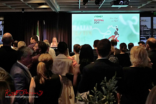 Opening speeches to launch the Sydney Italian Festival Launch - Street Fashion Sydney