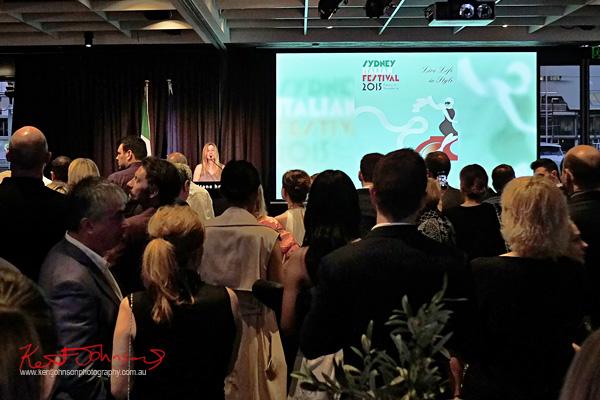 Opening speeches to launch the Sydney Italian Festival Launch - Street Fashion Sydney