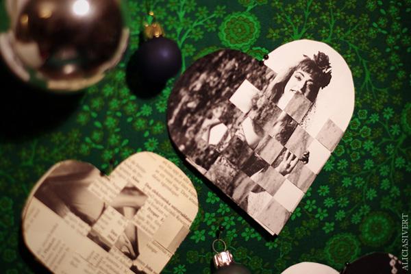 aliciasivert, alicia sivert, alicia sivertsson, flätad hjärtkorg, fläta, vävd, väva, väv, hjärta, korg, julhjärta, jul, svartvitt, svart och vitt, black and white, heart, woven heart basket, christmas, x-mas
