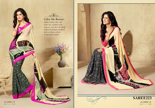 Online Shopping For Georgette Printed Saree